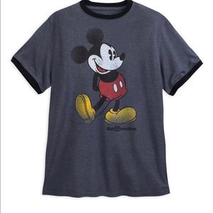 Mickey Mouse adult classic ringer tshirt XXL